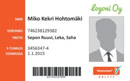 The orange Valtti smartcard